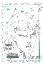 Xena Martineck Sketch card Fallen Angel Sketchafex Gabrielle signed hand-drawn