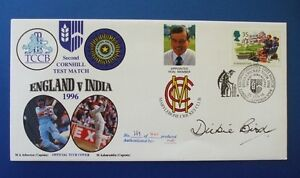 1996 ENGLAND v AUSTRALIA 2ND CORNHILL TEST MATCH COVER SIGNED BY DICKIE BIRD