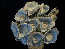 """Vintage Millinery Flower 1"""" Primrose 12pc Lot Lt Blue for Hat Wedding + Hair KD9"""