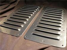 "Pair 5"" Louvered Aluminum Bolt-on panel kit Hood Cooling Jeep louver Rodlouvers"