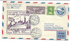 1932 US Cover First Voyage SS Manhattan to Triesenberg - Zurich, Paris Cancels*