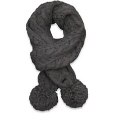 Abercrombie & Fitch Pretty Cable Knit Scarf Gray