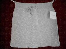 New CROFT & BARROW XS Gray Fleece Skort 28 x 16 Elastic Waist Marled stretchy#54