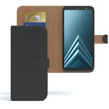 Tasche für Samsung Galaxy A6 Plus (2018) Case Wallet Schutz Hülle Cover Schwarz