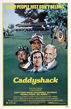 "CADDYSHACK Movie Silk Fabric Poster 11""x17"" 1980 Bill Murray Chevy Chase"