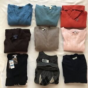 Cashmere with flaws holes Sweaters Vest Lot 9 Pc.