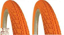"KENDA KONTACT 20"" X  1.95"" ORANGE BMX BICYCLE TIRES--1 PAIR"