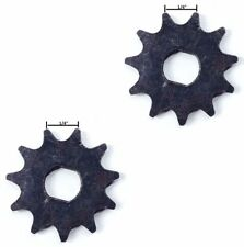"Pair (2) #25 1/4"" 6.35 mm pitch sprocket f ZY MY1020 motor f minibike scooter"