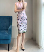 NEW Ted Baker HALIEY Everglade bodycon dress Pale Pink, 0-5