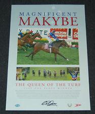 MAGNIFICENT MAKYBE DIVA HAND SIGNED GLEN BOSS 2005 COX PLATE WINNER HORSE PRINT