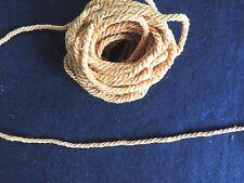 Ancien métrage galon corde tressé couleur jaune doré Passementerie 10m couture