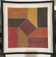 Handpainted Needlepoint Canvas Geometric Shapes. Fall Colors