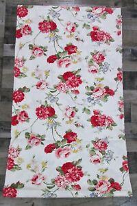 Ralph Lauren Daniella Tablecloth 60x104 White Pink Rose Floral Romantic New