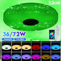 bluetooth Speaker LED Music Starry Sky Ceiling Lamp Remote Control RGB Light 72