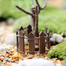 5pcs Wooden Palisade Fence Garden Ornament Plant Pot Fairy Scenery Decor FT