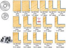 Amana Super Rabbet Router Bit Bearing Accessory Kit #67800 16 Depths