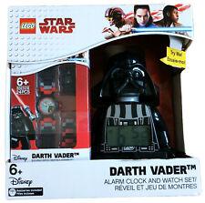 Lego Desk / Table Digital Alarm Clock + Wrist Watch  - Starwars Darth Vader
