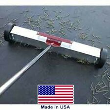 """Magnetic Sweeper - 36"""" Cleaning - 8"""" Wheels - Push Broom Style - Commercial"""