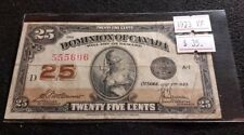Canada 1923 25 cent Dominion of Canada Shiplaster McCavour-Saunder Nice Banknote