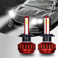 4-Sides LED H7 Headlight Bulbs White for Mercedes-Benz C300 B200 C230 C250 C240