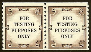 TD111 Brown FTPO Test Stamp Pair VF Mint NH Cat $10
