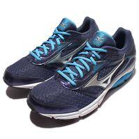 Mizuno Wave Impetus 4 IV Blue Silver Men Running Shoes Sneakers J1GC1613-04
