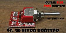 TONE MONSTER SG-3D NITRO BOOSTER Guitar Effect Circuit Expander Hi/Lo/Flat/Mid