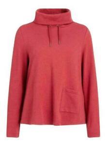 NEW SEASALT  Red Eastern Isles Sweatshirt  Cowl Neck Pocket 10 18 20 Autumn