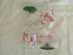 LOLITA Love My Party of Two - Acrylic Wine Glasses - PINK FLAMNGO