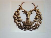 2 X GORDON HIGHLANDERS STICKERS SCOTLAND  ARMY BADGES BRITISH MILITARY INSIGNIA