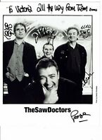 TheSawDoctors Fully Hand Signed Vintage Photograph 10 x 8