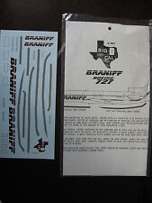 1/144  DECALS BIG 1 CAL  BRANIFF BOEING B-727   DECALCOMANIE