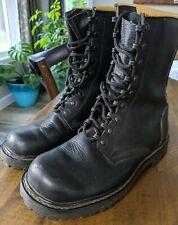 Combat Boots Springerstiefel German Swiss Army Bundeswehr Leather Black Airborne