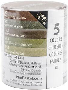 PanPastel Ultra Soft Artist Pastel Set 9ml 5/Pkg-Extra Dark Shades - Earthtones