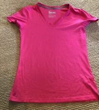 Women's Nike Dri Fit V Neck Athletic Top T Shirt Pink Small. Euc