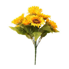 Artificial Sunflower Bush Artificial x 12 Heads 40cm/16 Inches