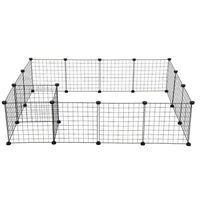 Heavy Duty 16 Panel Metal Cage Crate Pet Dog Exercise Fence Playpen Kennel Cage