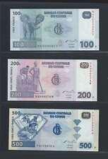 Congo Lot de 3 billets différents  en état NEUF   Lot N° 4