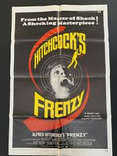1972 Vintage Original Alfred Hitchcock's Frenzy US One Sheet Poster