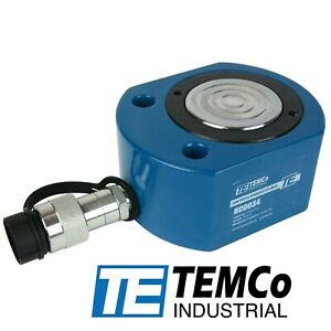 """TEMCo HC0034 Low Profile Height Hydraulic Cylinder Puck 50 Ton, 0.63"""" Stroke"""