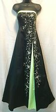 Bridesmaid Dress Gown Prom Formal Long Strapless Morgan & Co Sequin Size 11-12