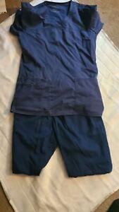 Cherokee Workwear Core Stretch Ladies Scrub Set Red Size S/S