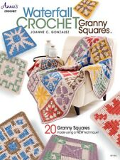 Crochet Pattern Book Waterfall Granny Squares ~ Afghan & 20 Square Designs
