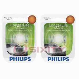 2 pc Philips License Plate Light Bulbs for Saturn Ion SW1 SW2 Vue 1993-2007 gs
