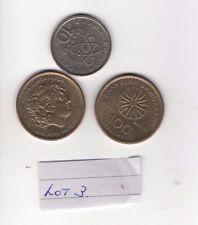 MONETE greche. totale di tre Asst monete vedi foto... LOT3 riduzione prezzo di partenza.