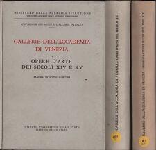 Gallerie dell'Accademia di Venezia. Opere d'arte. 3 voll. Moschini Marconi. Y7