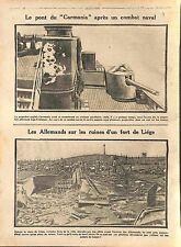 British cruiser RMS Carmania Royal Navy/Deutsches Heer Fort de Liège  WWI 1914