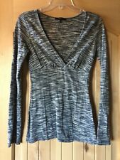 Womens Express black gray and White Shimmery Long Street Blouse S