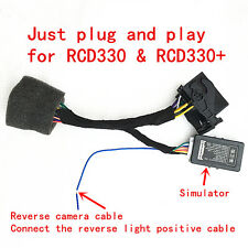 RCD330 Plus Plug&Play ISO Quadlock Adapter with CANBUS Decoder Simulator for VW