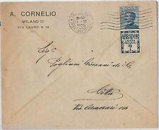 64188 - ITALIA REGNO - STORIA POSTALE : Pubblicitario ABRADOR su  BUSTA 1925